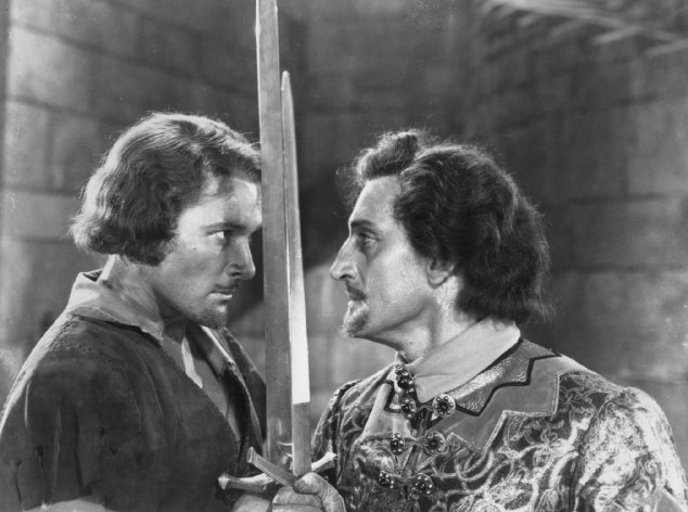 Erroll Flynn and Basil Rathbone in Robin Hood