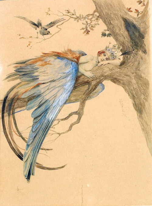 breathemystardust:  deadpaint: Sergey Solomko, Blue Bird  There's a bluebird in my heart that wants to get out But I'm too tough for him