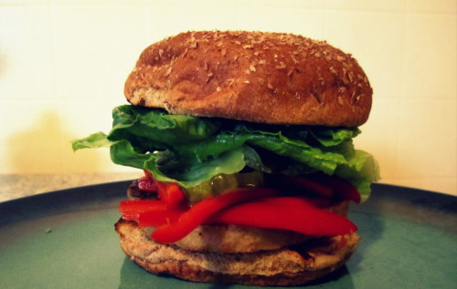 my veggie burger.