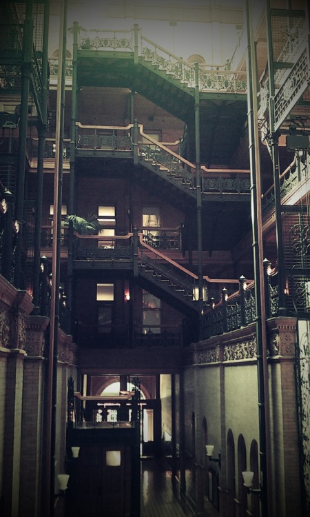 carlosadama:  Shivers as I stand inside one of the locations from Blade Runner. Los Angeles, 19th June 2012