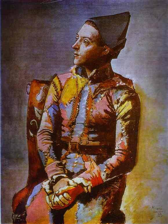 "parliecharker:  ""The Seated Harlequin"", by Pablo Picasso"