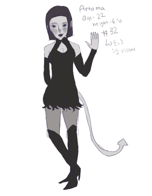 "Artama the 32nd Child of the King. she's 22 years old. Height: 6'0 her tail is really bad, im sorry.. just as I was about to upload this i realized I forgot to draw it and doodled it in … i wanted her name to mean 'kind"" so i google-translated ""kind' in german and it was ""art"" so I thought of ""Artama"" (ama from the spanish ""amable"") but then I realized ""art"" in german was actually the kind as in 'type' but I kept it anyways!"
