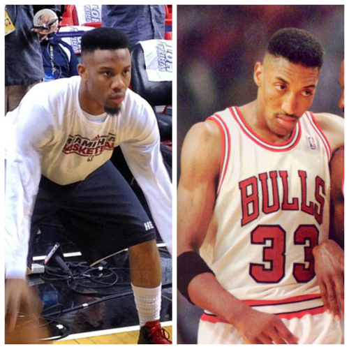Norris Cole will be rocking the Scottie Pippen look for the remainder of the NBA Finals.