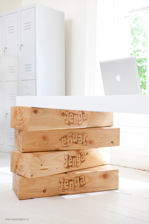 oliphillips:  Jenga Desk by Boys and Girls