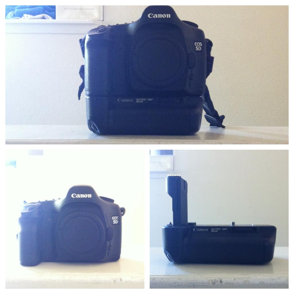 jeredscott:  Selling my original canon 5D with battery grip and 1 battery (plus 2 chargers!)  Interested? Email jered@jeredscott.com  Reblog/retweet please!