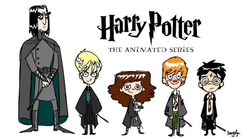 Harry Potter: The Animated Series illustration by Dave Au :: via artofau.blogspot.ca