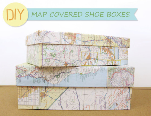 DIY Map Covered Shoebox