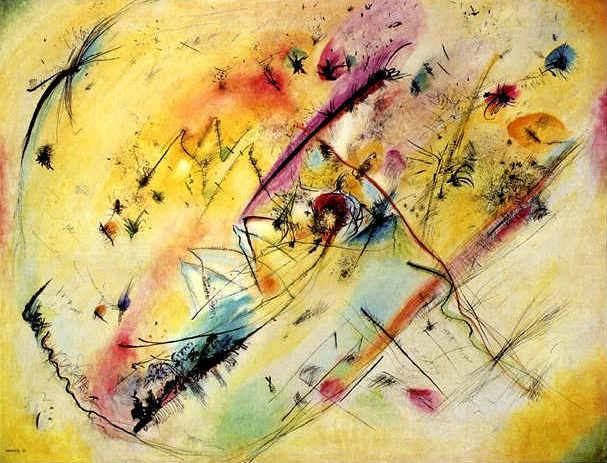 deadpaint:  Wassily Kandinsky, Bright Picture  I am so happy that I finally did something on Tumblr, if for no other reason to see these come across my screen!