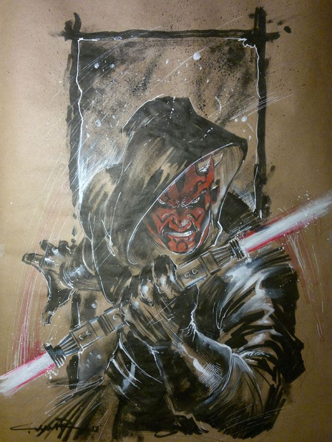 wholockian-fettish:  Darth Maul by ~Cinar