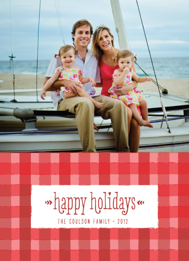 """checkered"" holiday card *  designed for minted.com's joy to the world holiday challenge (2012)"