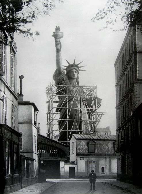 The Statue of Liberty in Paris, 1886. Unattributed.