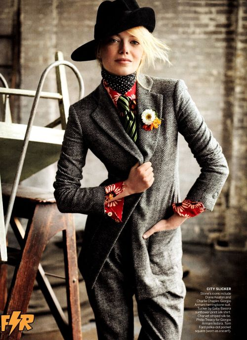 PERSONALITY IN SPADES  TailoredFemininity Emma Stone for Vogue