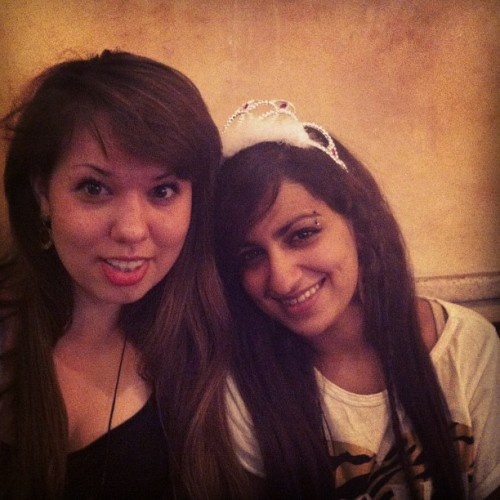 Birthday dinner avec tiara!! (Taken with Instagram)