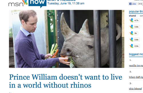 Why is that title so hilarious?Also, after Stepher Fry feeding a baby rhino… look at them Brits.