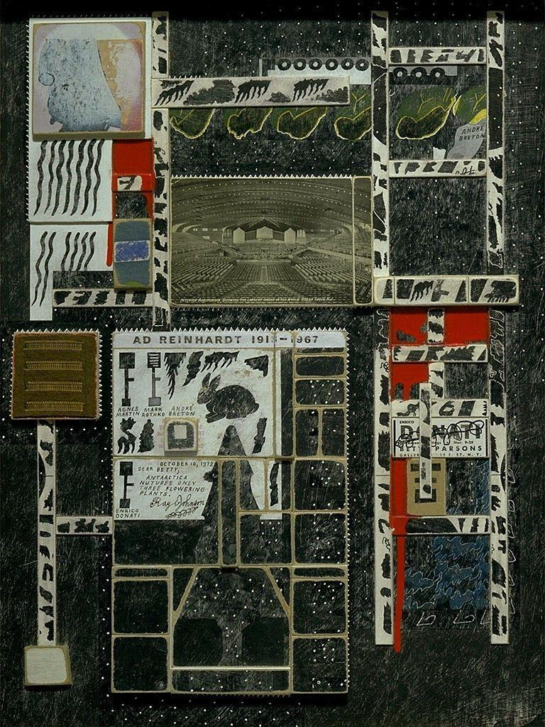 thecricketchirps:  Ray Johnson, Andre Breton, 1972