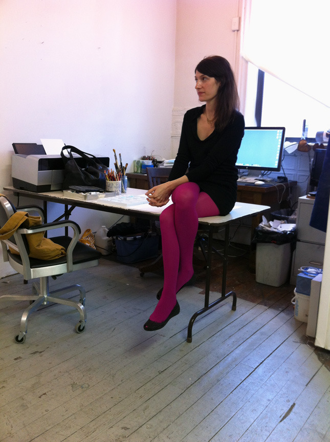 Isca in her studio, 2012