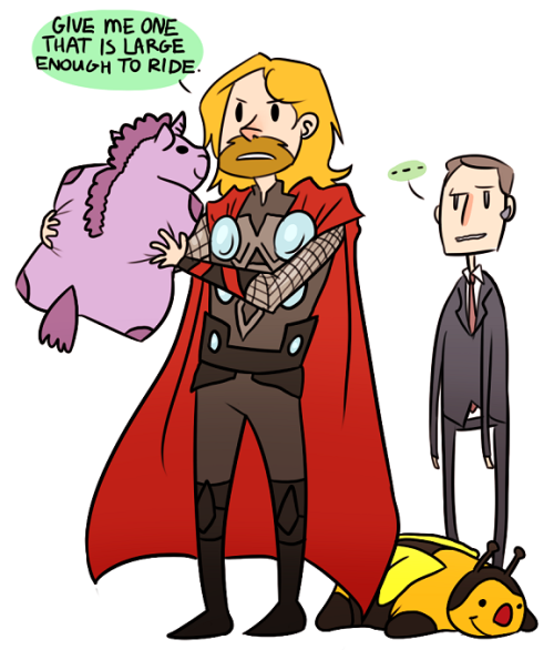 Anonymous asked you: Thor and pillow pets  oh thor