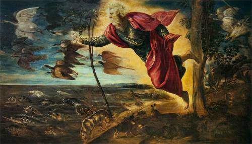 "Can you really pretend that Tintoretto's God Creating the Animals of the Universe is a work founded on anything less than ""fun"" in its widest and most completely involved sense? RAY BRADBURY - Zen in the art of writing"