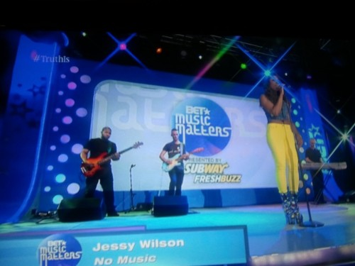 @jessywilson in her #barbeebootz performing on 106 & Park! WWW.THESEPINKLIPS.COM