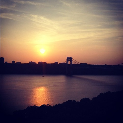 sunset over the gw bridge (Taken with Instagram)