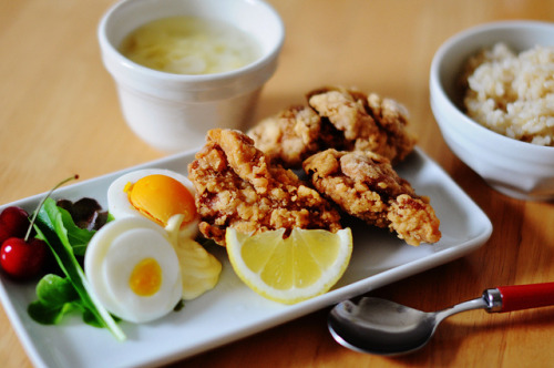 Karaage lunch on Flickr.