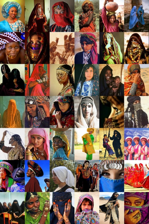 prettyindian:   *Here you have various WoC (women of colour) wearing their traditional, religious and cultural head-coverings. Please try and persuade me that all these women, from various continents are oppressed because they choose to wear traditional/religious/cultural garments.  As a woman of colour, I preserve the right to wear my garments religiously and culturally. I will not take off my headscarf or any form of head covering because your ignorance has let you to believe that I am 'oppressed'. I will wear my culture and religion with pride, and shouldn't have to be afraid I will face discrimination because of your lack of knowledge of my culture or religion. *Please reblog*