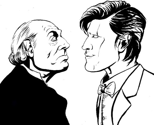 sketchattack:  The first Doctor meets the current Doctor by Thomas Napolitano http://be.net/thomas_napolitano