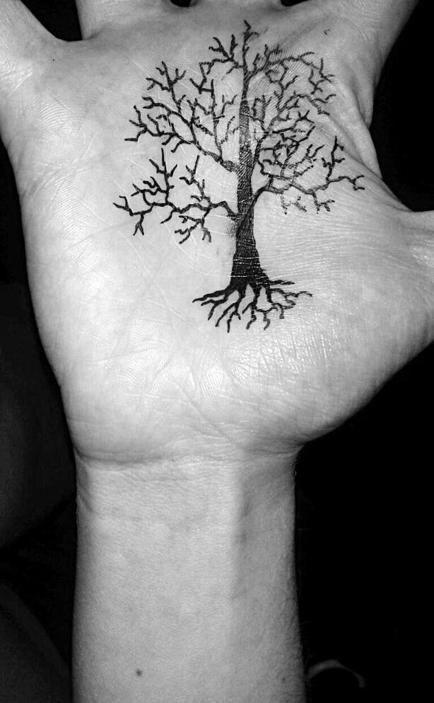 Sometimes I like to doodle trees… on myself. =)