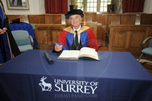 20 JUN 2008 I received an honorary Doctorate Of Music at The University of Surrey  Today's the summer solstice, and in 2008 I received an honorary doctorate of music at the University of Surrey at Guildford Cathedral. I had visited the Cathedral before in my Epsom choirboy days, but over forty years later receiving this degree was a moving experience for me and my family, who were also present at the ceremony. The University had some cool facilities and students were up to some interesting music, with sound engineers graduating in digital and analogue recording.