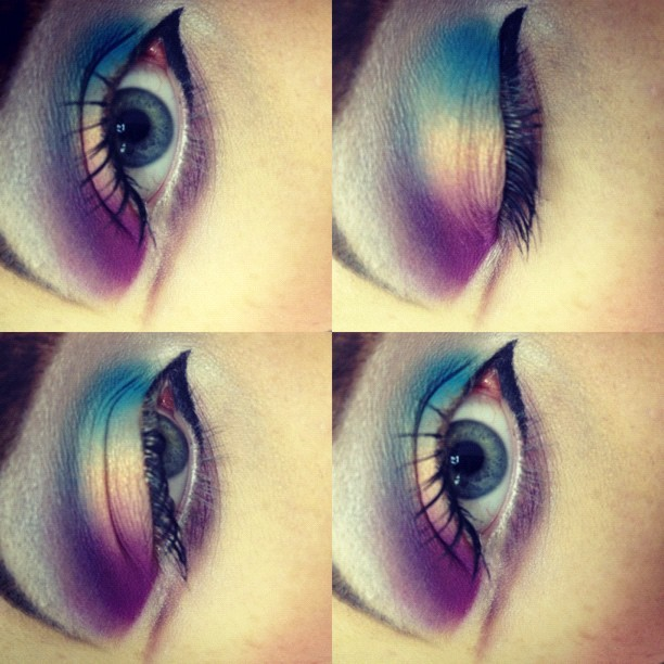 professional-princess:  Sunset eyes 🌅 #makeup (Taken with Instagram)