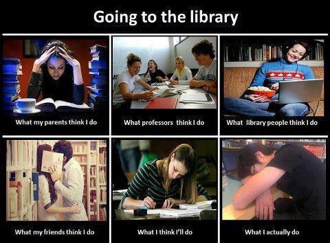 lolvirgin:  Going to the Library…
