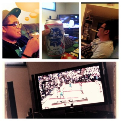 Watching the game with the best boy friends ever. GO OKC! @melojet15#picstitch (Taken with Instagram)
