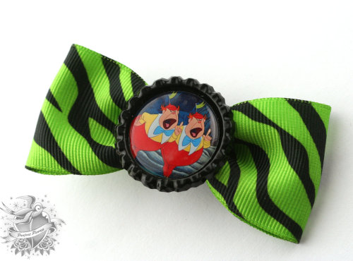 Tweedle Dee and Tweedle Dum Hair Bow $8  https://www.etsy.com/listing/102521990/alice-in-wonderland-tweedle-dee-tweedle