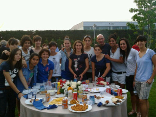 the annual year-end barbecue at La Masia