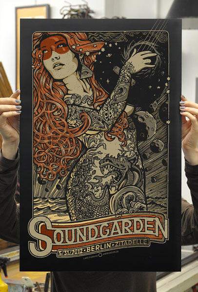 Soundgarden Berlin show poster