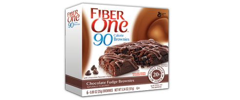 90 Calorie Brownies - Chocolate Fudge  {FiberOne}Also comes in Chocolate Peanut Butter & Chocolate Chip CookieFinally, a snack under 100 calories that captures the rich decadence of chocolate!  They've also got 5g of fiber packed in to boot.