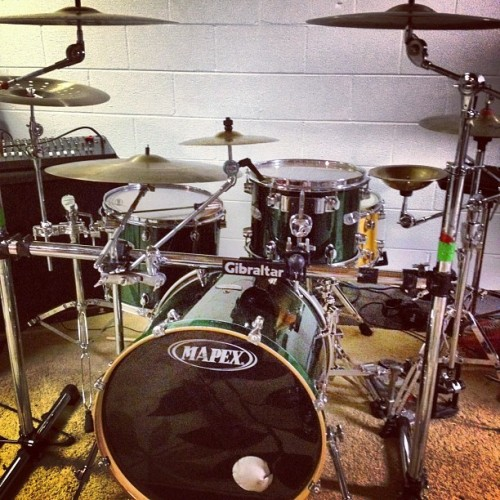 Chris's new set up #drums #boyfriend #setup (Taken with Instagram)