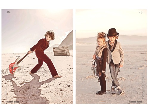 Mod style drenches a desert milieu in Gerard Harten's latest shoot  -  yet another fantastic conceptual kids fashion campaign he's produced for Collezioni. Check out the entire rock-themed spread in the new issue, out now.