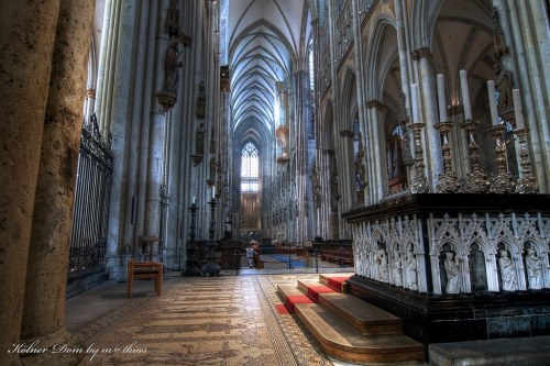 Altar area of the Cathedral of Cologne