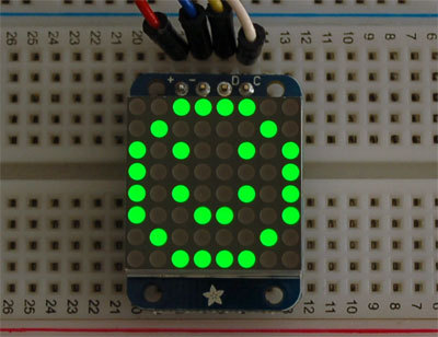 Adafruit Mini 8x8 LED Matrix w/I2C Backpack - Green ID: 872 - $9.95 : Adafruit Industries, Unique & fun DIY electronics and kits