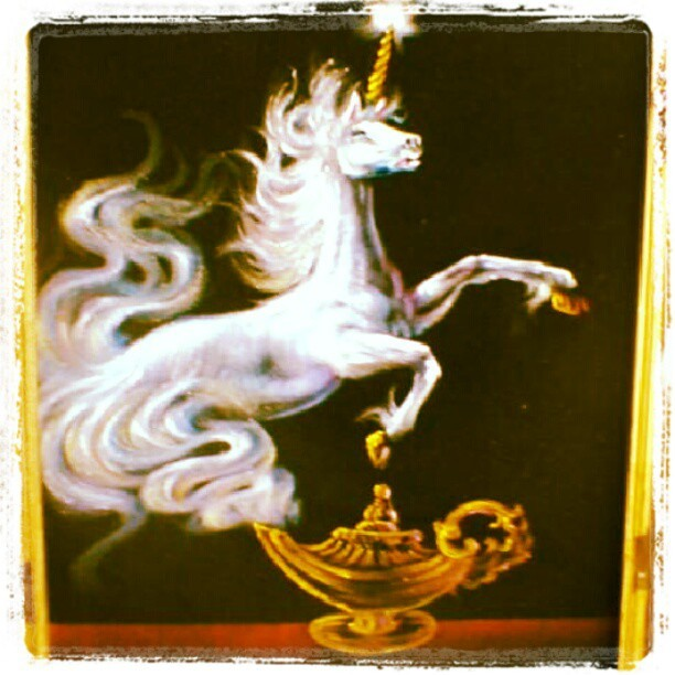 Grace found this painting at her sister's house… #magical (Taken with Instagram)