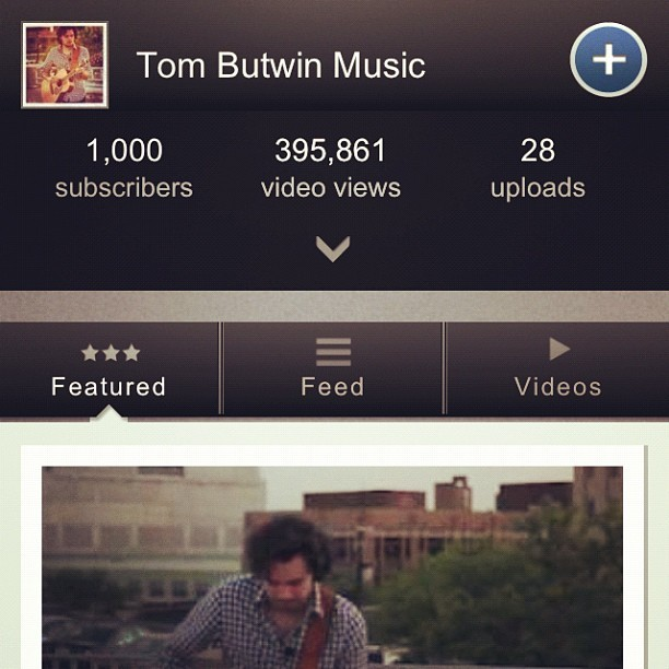 1,000 subscribers on YouTube! #gratitude #music  (Taken with Instagram)