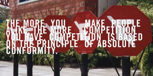 """The more you make people alike, the more competition you have. Competition is based on the principle of absolute conformity.""   Design legend David Carson brings to life Marshall McLuhan's ""probes"""