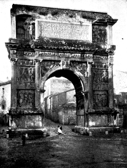 The Arch of Trajan at Benevento, Italy, 1908 by Romualdo Moscioni