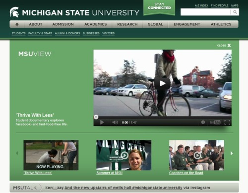 We're currently being featured on the front page of Michigan State's website! We've received a lot of positive feedback from all sorts of new people since we've released the film, and it's been truly amazing to watch this community grow. Thank you all so much for being a part of it!