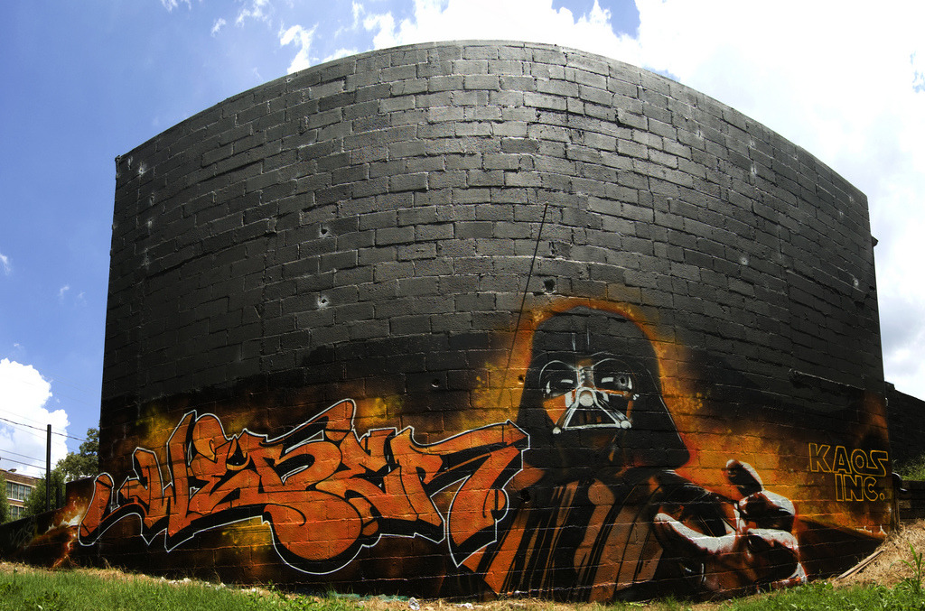 Daily Graffiti: I am your FATHER!! Darth Vader spotted by Rashard&Erika on Flickr. Check out the DAILY GRAFFITI ARCHIVES for more geektastic street art!