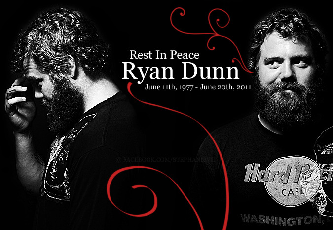 "I made this in honor of Ryan Dunn who passed away one year ago. This photo earned over 80 ""likes"" basically as soon as it was posted. Feel free to share. <3"