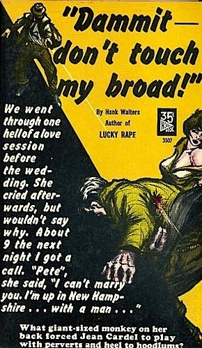 DAMMIT, DON'T TOUCH MY BROAD!  STORY HERE ON VINTAGE SLEAZE THE DAILY BLOG