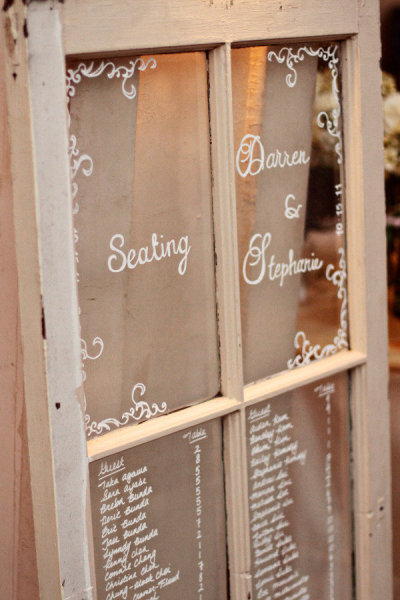 teastainedweddings:  looove this idea! writing on a window