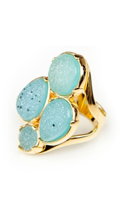 (via Four Druzy Ring by Marcia Moran)